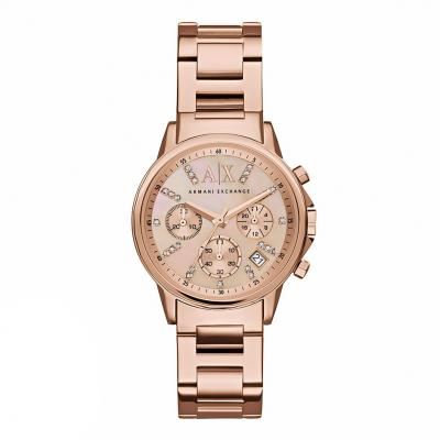 ARMANI EXCHANGE Banks Crystals Rose Gold Stainless Steel Chronograph AX4326
