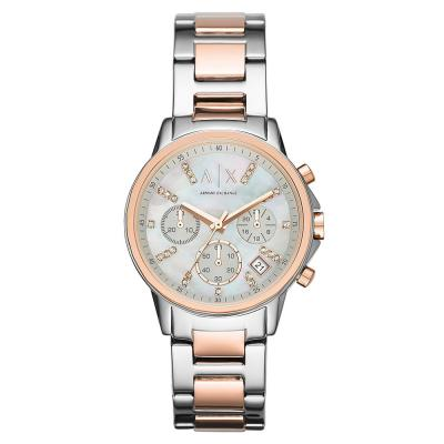 ARMANI EXCHANGE Banks Crystals Two Tone Stainless Steel Chronograph AX4331