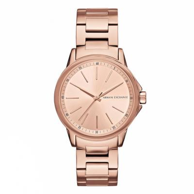 ARMANI EXCHANGE Banks Rose Gold Stainless Steel Bracelet AX4347