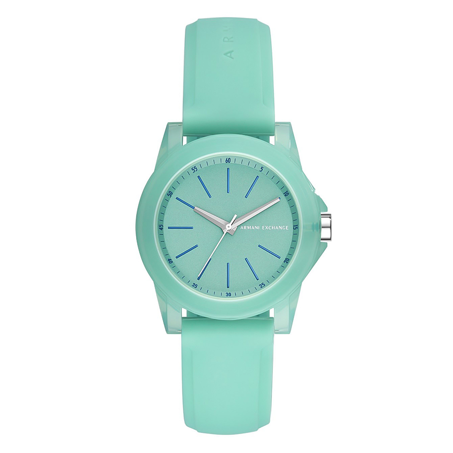ARMANI EXCHANGE Banks Green Rubber Strap AX4362