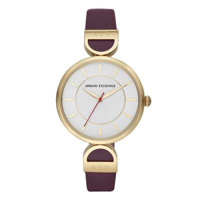 ARMANI EXCHANGE Ladies Purple Leather Strap AX5326