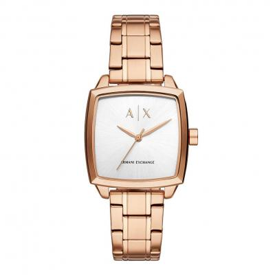 ARMANI EXCHANGE Ladies Rose Gold Stainless Steel Bracelet AX5453