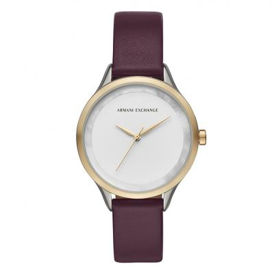 ARMANI EXCHANGE Harper Purple Leather Strap AX5605