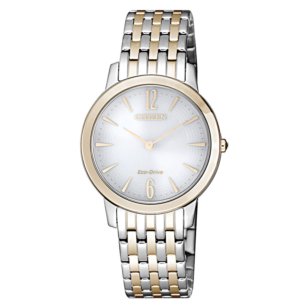 CITIZEN Ladies Slim Eco-Drive Two Tone EX1496-82A