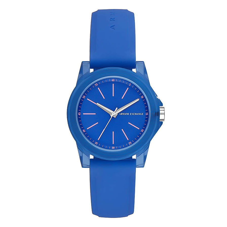 ARMANI EXCHANGE Banks Blue Rubber Strap AX4360