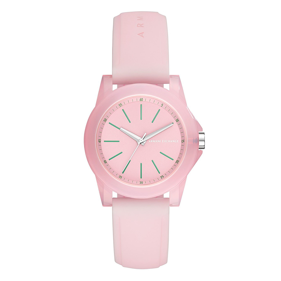 ARMANI EXCHANGE Banks Pink Rubber Strap AX4361