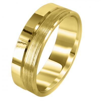 Κίτρινη Χρυσή Βέρα Γάμου WR285
