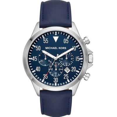 MICHAEL KORS Cage Blue Leather Strap MK8617