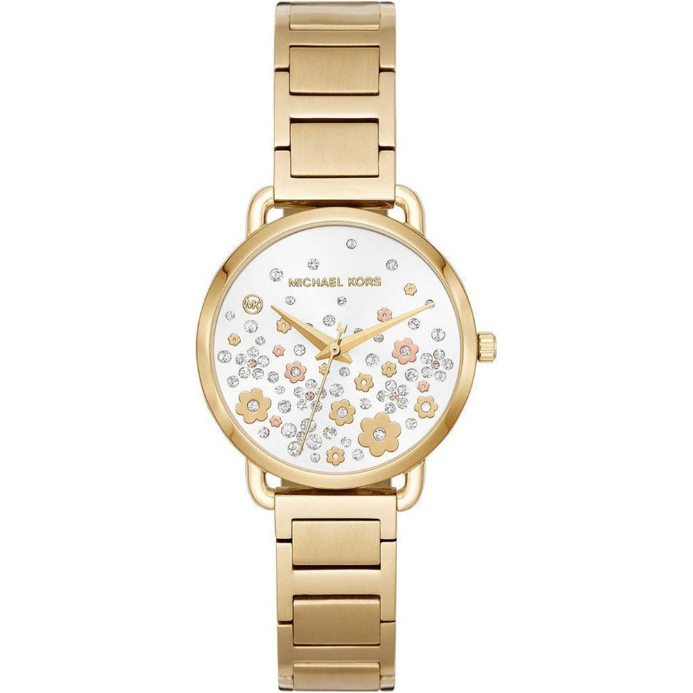MICHAEL KORS Portia Crystals Gold Stainless Steel Bracelet MK3840