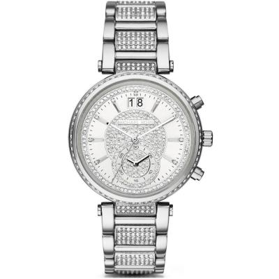 MICHAEL KORS Sawyer Crystals Stainless Steel Chronograph MK6281