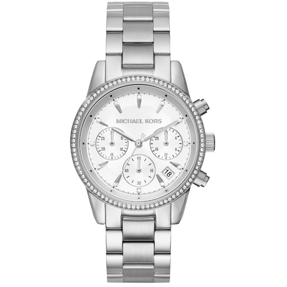MICHAEL KORS Ritz Crystals Stainless Steel Chronograph MK6428