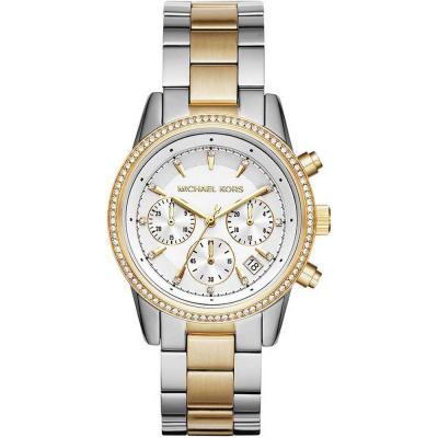 MICHAEL KORS Ritz Crystals Two Tone Stainless Steel Chronograph MK6474