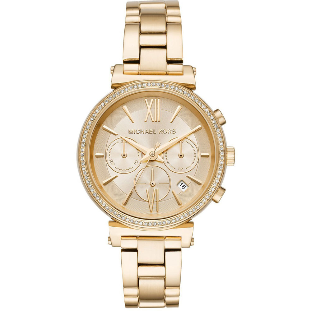 MICHAEL KORS Sofie Crystals Gold Stainless Steel Chronograph MK6559