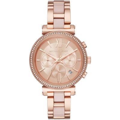 MICHAEL KORS Sofie Crystals Rose Gold Stainless Steel Chronograph MK6560