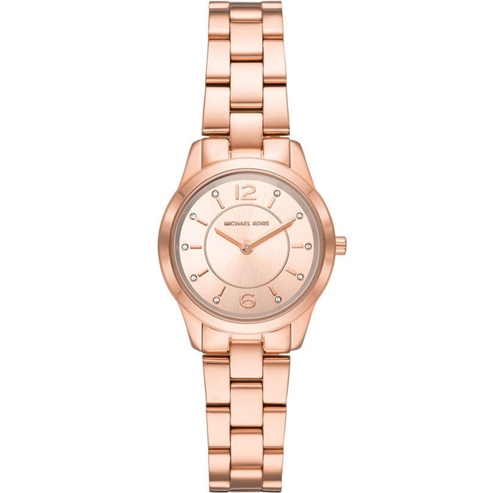 MICHAEL KORS Petite Runway Rose Gold Stainless Steel Bracelet MK6591