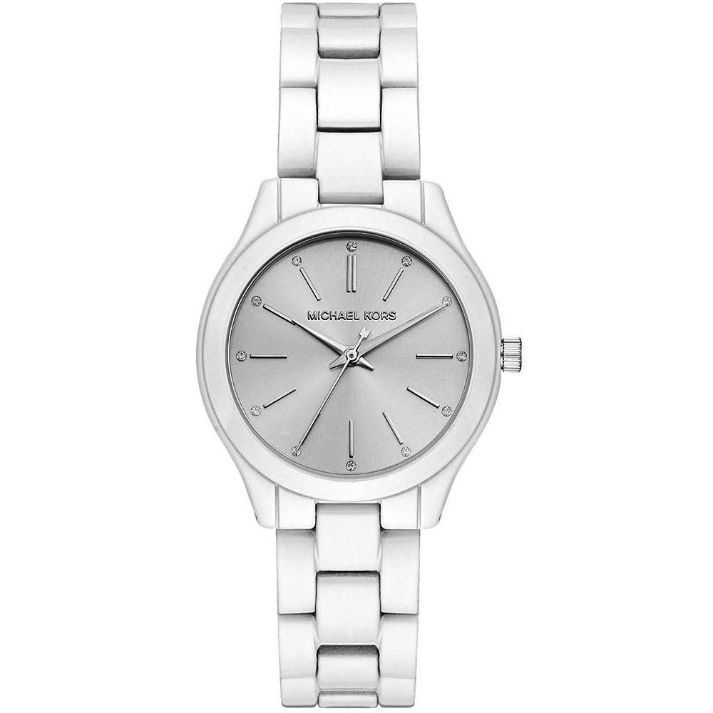 MICHAEL KORS Runway Slim White Stainless Steel Bracelet MK3908