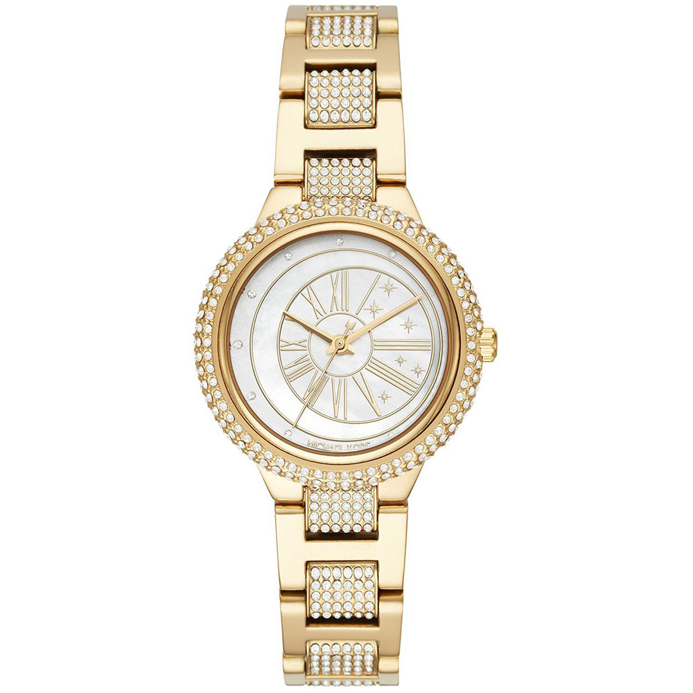 MICHAEL KORS Taryn Crystals Gold Stainless Steel Bracelet MK6567