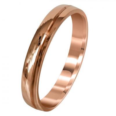 Ροζ Χρυσή Βέρα Γάμου WR274R