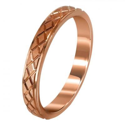 Ροζ Χρυσή Βέρα Γάμου WR275R