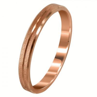 Ροζ Χρυσή Βέρα Γάμου WR276R
