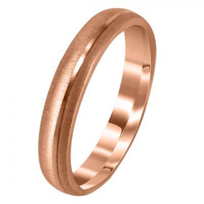 Ροζ Χρυσή Βέρα Γάμου WR280R