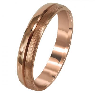 Ροζ Χρυσή Βέρα Γάμου WR282R