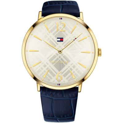 Tommy HILFIGER Pippa Gold Blue Leather Strap 1781843