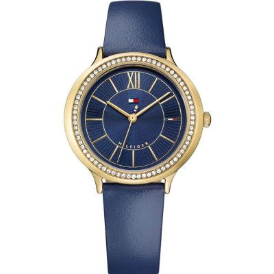 Tommy HILFIGER Candice Crystals Blue Leather Strap 1781852