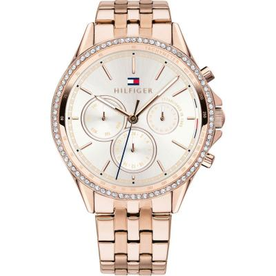 Tommy HILFIGER Ari Multifunction Crystals Rose Gold Stainless Steel Bracelet 1781978