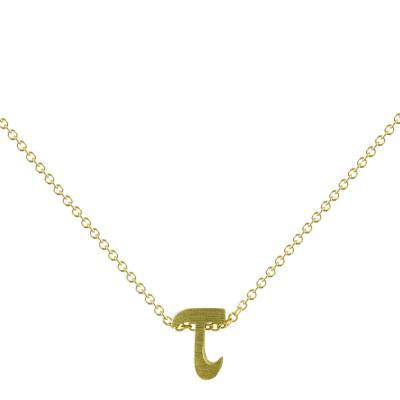 """Χρυσό Μονόγραμμα Μενταγιόν """"τ"""" Κ9 MG176"""