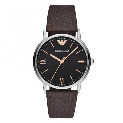 EMPORIO ARMANI Brown Leather Strap AR11153