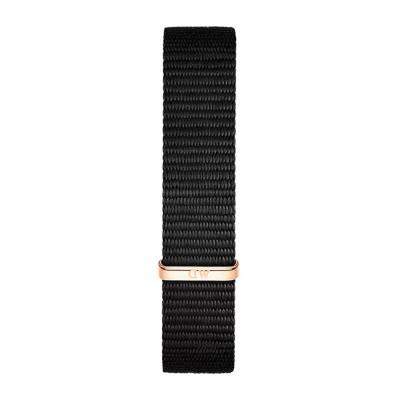 DANIEL WELLINGTON Classic Black Cornwall Fabric Strap Rose Gold 28 mm DW00200195