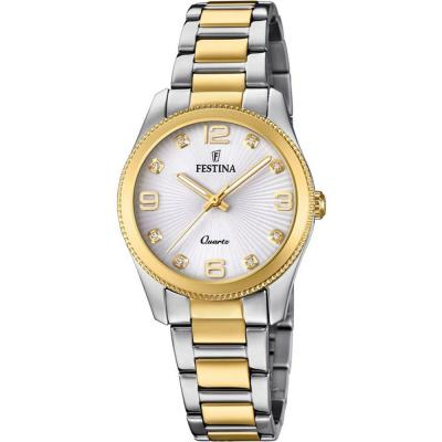 FESTINA Crystals Two Tone Stainless Steel Bracelet F20209-1