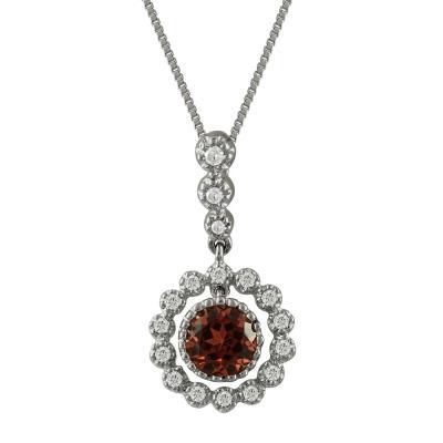 Λευκόχρυσο Μενταγιόν Με Γρανάδα Και Διαμάντια Brilliant Κ18 M33019