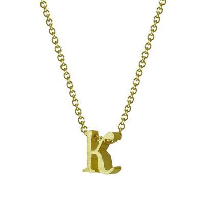 """Χρυσό Μονόγραμμα Μενταγιόν """"κ"""" Κ9 MG180"""
