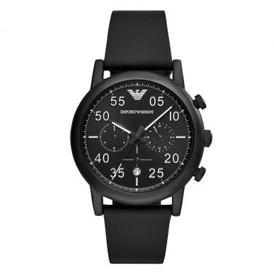 EMPORIO ARMANI Black Leather Chronograph AR11133