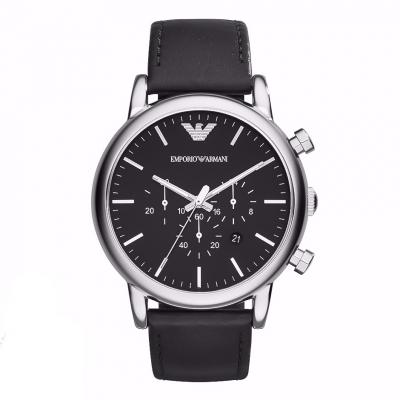 EMPORIO ARMANI Classic Black Leather Chronograph AR1828