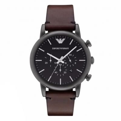 EMPORIO ARMANI Brown Leather Chronograph AR1919