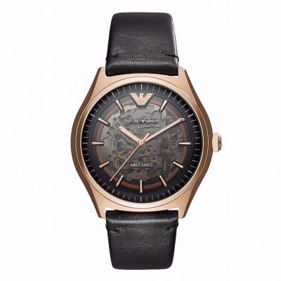 EMPORIO ARMANI Zeta Automatic Black Leather Strap AR60004