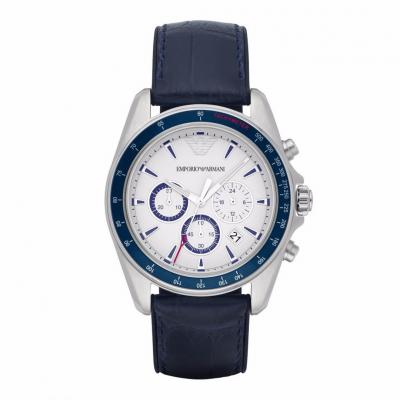 EMPORIO ARMANI Blue Leather Chronograph AR6096