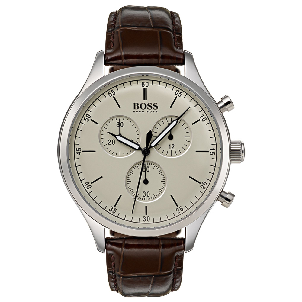 HUGO BOSS Brown Leather Chronograph 1513544  54d4b866cc3