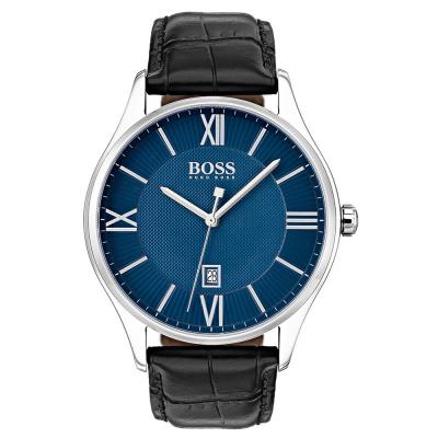 HUGO BOSS Governor Black Leather Strap 1513553