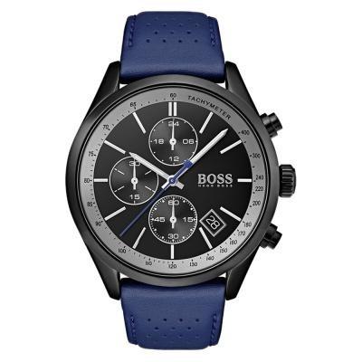 HUGO BOSS Grand Blue Leather Chronograph 1513563