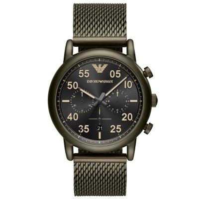 Emporio ARMANI Luigi Khaki Stainless Steel Chronograph AR11115