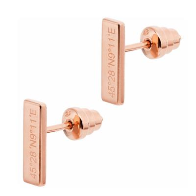 EMPORIO ARMANI Γυναικεία Σκουλαρίκια Από Ροζ Επιχρυσωμένο Ατσάλι EG3307221