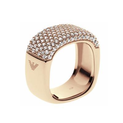 EMPORIO ARMANI Γυναικείο Δαχτυλίδι Από Ροζ Επιχρυσωμένο Ατσάλι EG3263710
