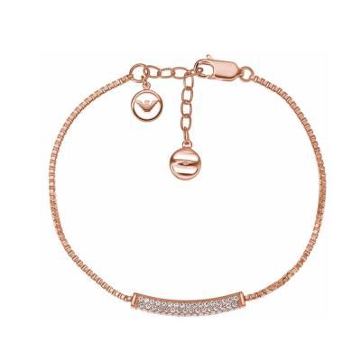 EMPORIO ARMANI Γυναικείο Βραχιόλι Από Ροζ Επιχρυσωμένο Ατσάλι EG3260221