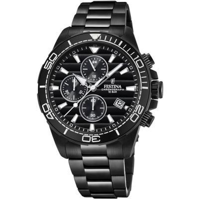 FESTINA Chronograph Black Stainless Steel Bracelet F20365-3