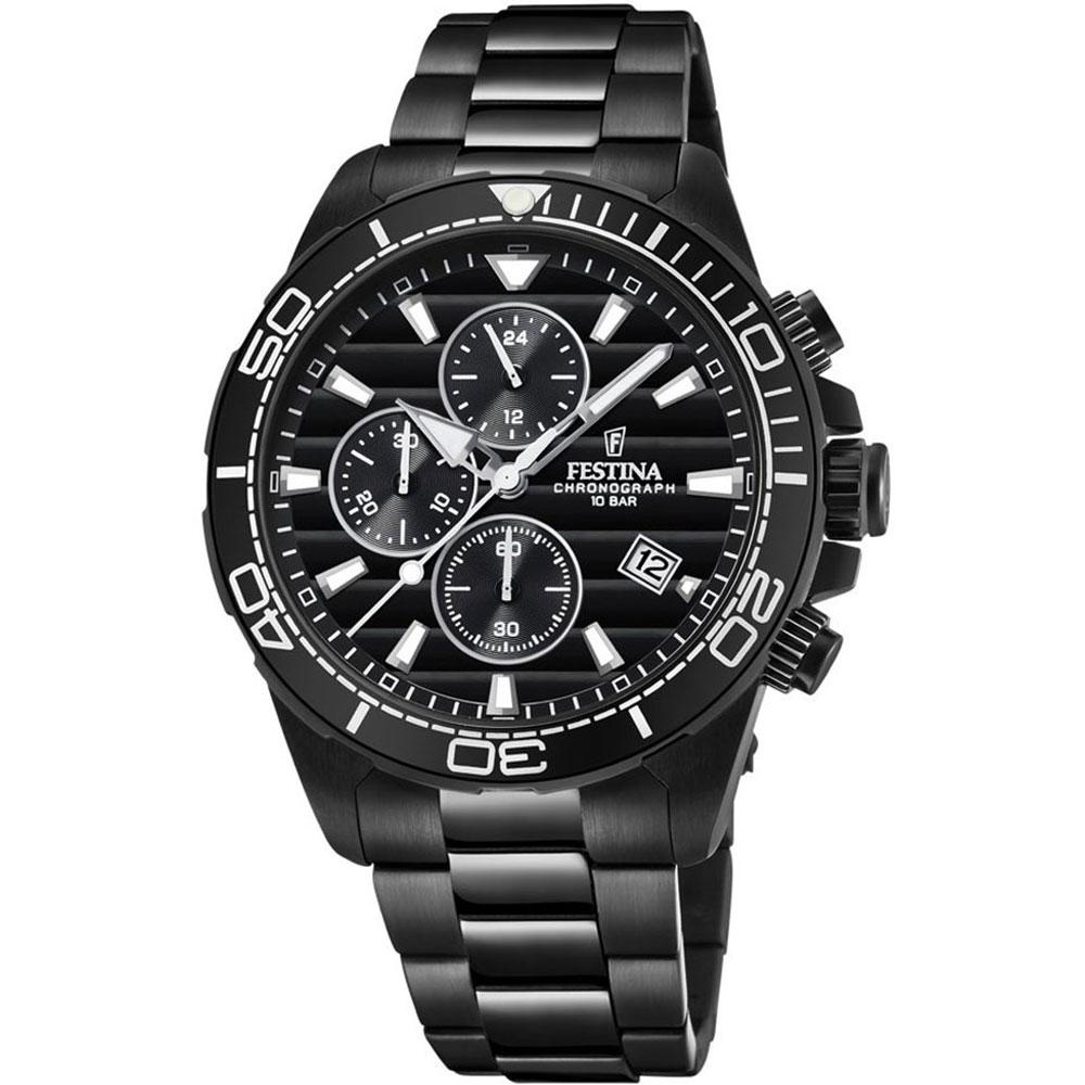 FESTINA Chronograph Black Stainless Steel Bracelet F20365-3 ... 5f689ce1161