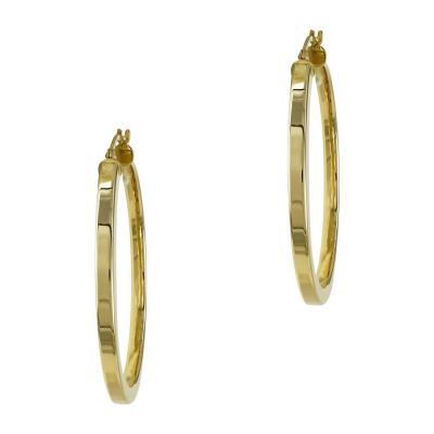 Κίτρινος Χρυσός Σκουλαρίκια Κρίκοι Κ14 SK819